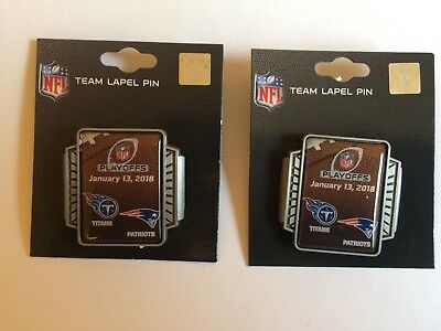 2017 Nfl New England Patriots Vs Tennessee Titans Head To Head Pin (Nwt)