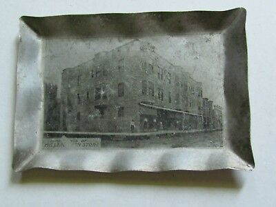 C 1900 Advertising Tip Tray Miller's Cash Store Lincoln Ill