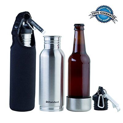 Beer Bottle Cooler With FREE Insulated Bottle Carrier Sleeve and Bottle Opener..