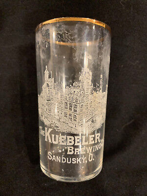 Kuebeler Brewing Company Factory Etched Glass - Sandusky, Ohio