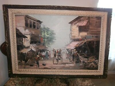 Antique /vintage Oil Painting On Canvas One Of  A Kind  Signed By The Artist