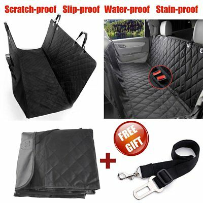 Nonslip Pet Car Back Seat Cover Cat Dog Waterproof Protector Hammock Mat Black F