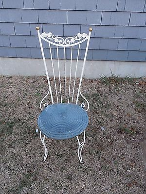 Old Ornate Heavy Iron Metal Chair