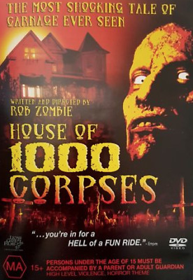 HOUSE OF 1000 CORPSES DVD - Rob Zombie REG 4..DISC LIKE NEW    M2