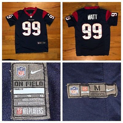 Nike On field J.J. Watt  99 Houston Texans NFL Kids Sewn Jersey Size Medium c885b9541