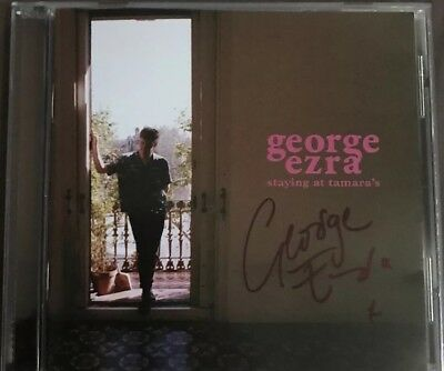 George Ezra SIGNED AUTOGRAPH Staying At Tamaras CD Album