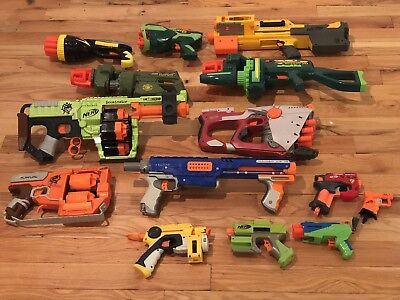 Great Lot 3 Rare Vintage Nerf guns All Tested & Working Well! Firefly NiteFinder