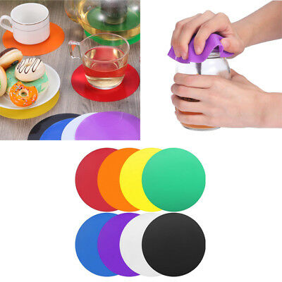 1 Pieces Rubber Jar Gripper Pads Round Coasters Multi-Purpose Bottle Lid Openers