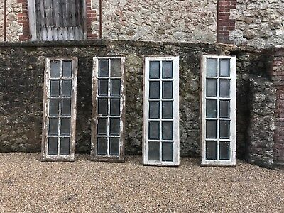 reduced FRENCH RECLAIMED CHURCH STAIN GLASS WINDOWS X 4 IN TOTAL