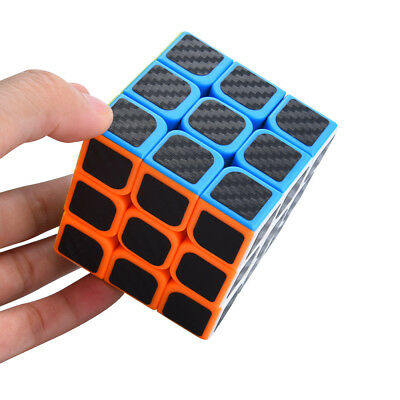 3x3x3 Speed Cube Carbon Fiber Sticker for Smooth Magic Cube Puzzles