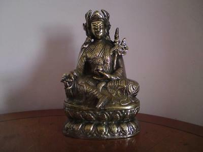 Early to mid 20th century Chinese Tibetan Bronze Buddha Figure Padmasambhava