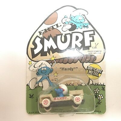Swell Brand New 1982 Handy Smurf With Car Vintage Smurfs Camellatalisay Diy Chair Ideas Camellatalisaycom