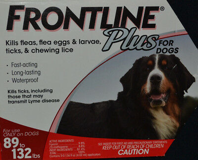Frontline Plus for Dogs 89-132 lbs. One Month Supply, 1 Single Dose