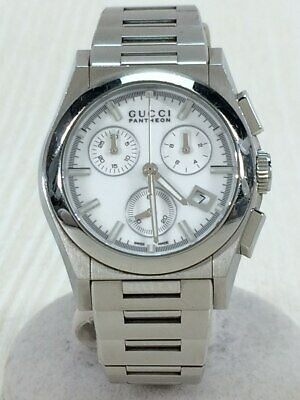 521628dec69 GUCCI Pantheon quartz analog SLV YA115407    20C0 GOOD Wristwatch F S JAPAN