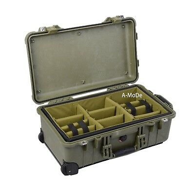 Padded divider set fit Pelican IM2500 1510 Cases OD Green (NO Case)
