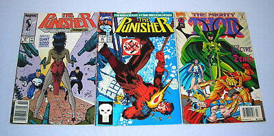 Lot of 3 The Punisher 25 46 The Mighty Thor 488 Marvel Comics 1989 1991 1995