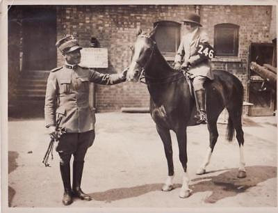 Olympia International Horse Show cheval officier officer equitation Photo 1930