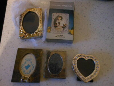 Metal Picture Frames Small Heart Shape Oblong X 4 Mixed Bundle