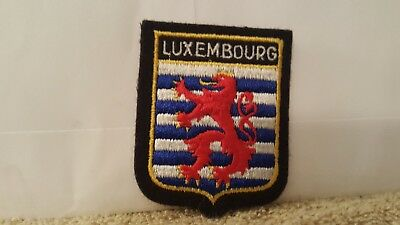 Travel Souvenir Luxembourg Color Patch 2 3/4 x 2 1/4 inches