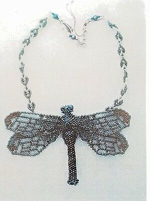 3D Dragonfly Necklace Huib Petersen Beading Kit Pattern Beadwork Bead Weaving