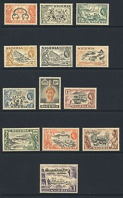 Nigeria 1953-58 ½d-£1 MINT Never Hinged SG 69-80 Cat £80.00