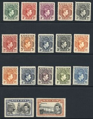 Nigeria 1938-51 ½d- 5/- GVI MINT Never Hinged SG 49-59b Cat £105