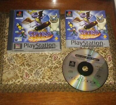 Spyro Year of the Dragon Sony Playstation 1 Platinum Pal 100% Complete