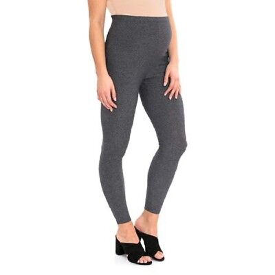 NWT Great Expecations Size L 12 - 14 Maternity Full-Panel Gray Leggings NEW