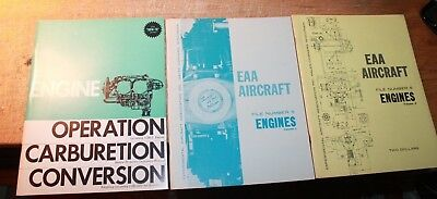 Vintage EAA Aircraft ENGINES Vols 1 & 2 1964-1965 Airplane Operation 1969
