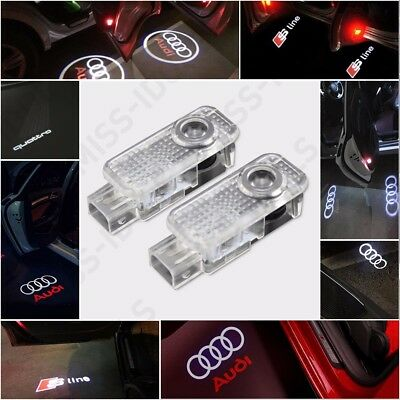 Audi Cree Led Projector Car Door Lights Shadow Puddle Courtesy Laser Logo Lamps