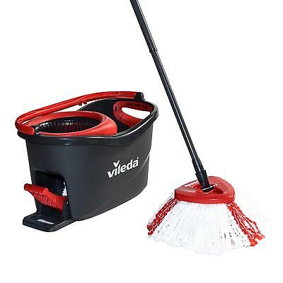 Vileda Turbo Microfibre Mop And Bucket Set With Foot Pedal Operated Wringer