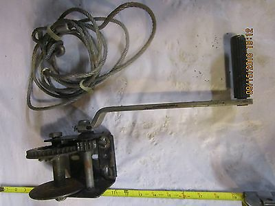 Vintage Dutton-Lainson Company DL600 Ratcheting Hand Winch plus Steel Cable