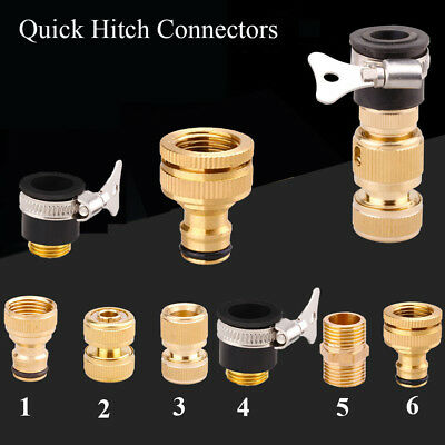 Gun Tube Brass Tap Adapter Quick Hitch Connectors Irrigation Hose Connector