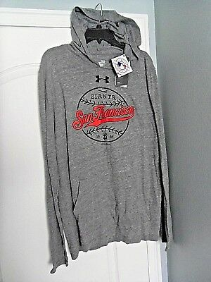 huge discount 04bb7 83ae1 San Francisco Giants Under Armour Long Sleeve T-Shirt - Gray w  Hood L