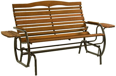 Jack Post Country Garden Glider with Trays in Bronze