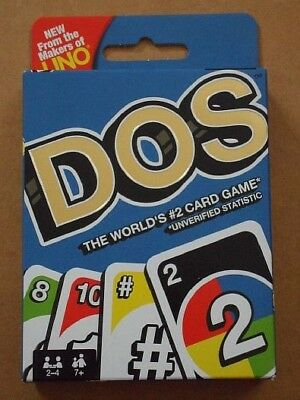 Mattel Uno Dos Family Card Game 2-4 Player.