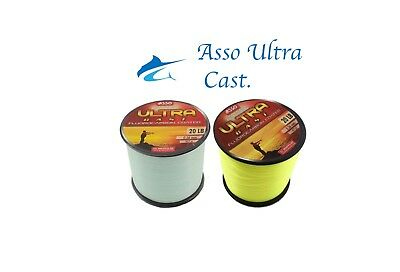 ASSO ULTRA CAST Fluorocarbon Coated Fishing Line - Various sizes colours.