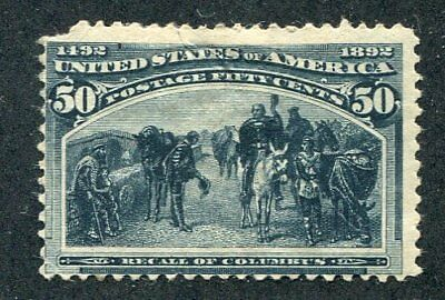 1893 U.S. Scott #240 Fifty Cent Columbian Expo Stamp Mint Hinged
