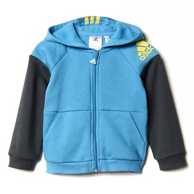 adidas infant boys blue/grey track top. Sweat top Age 12-18 months.