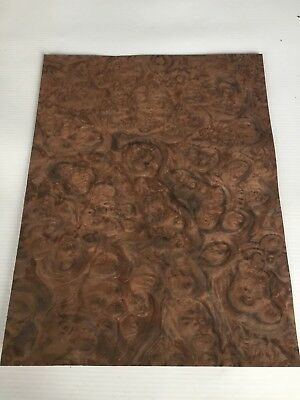 Walnut Burr Veneer - NATURAL WOOD Sheet - 300mm x 230mm (11.8 x 9 inches)