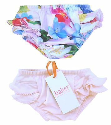 Ted Baker Baby Girl Shorts Nappy Cover Floral Pink Designer Newborn 0-3 Months
