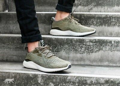 06287d2fb Adidas Alphabounce Em Bw1203 Men s Running Shoes Trace Olive 100% Authentic