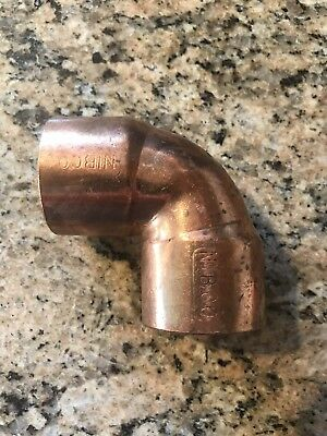 "NIBCO 1.5"" 1 1/2 inch 90 Degree sweat Copper Elbow 1-1/2"" Plumbing Fitting"