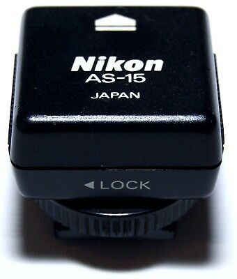 Nikon AS-15 Shoe Adapter with PC Terminal - FREE SHIP!