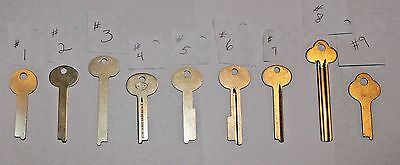 ONE Safety Deposit Box Key Blank Yale 885BL SG4 1089C 1068E 1063D SY10 LB1