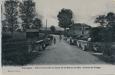CPA - France - (55) Meuse - Nauvages - Pont traversant le Canal