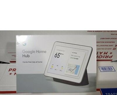GOOGLE HOME HUB GA00516-US (CHARCOAL) WITH GOOGLE ASSISTANT NEW SEALED Free Ship