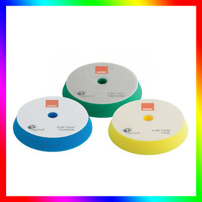 "RUPES Velcro polishing Foams (130-150mm / 5""-6"") Set of 3 Compounding pads NEW"