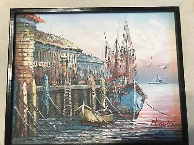 """Original Oil Painting on Canvas Seascape Painting by Florence 8 x 10"""""""
