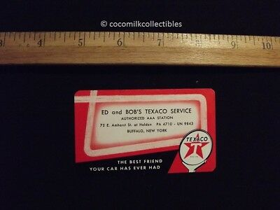 1955 Pocket Calendar Texaco Gas Ed and Bob's Service Station Buffalo NY New York